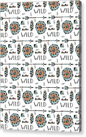 Repeat Print - Wild Acrylic Print by Susan Claire