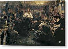 Repin, Ilya Yefimovich 1844-1930. The Acrylic Print by Everett