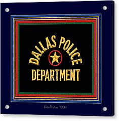 Replica Dpd Patch With Epaulette Colors Acrylic Print