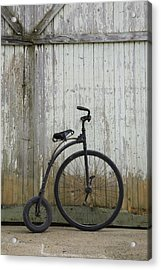 Replica Of An Old Penny-farthing Acrylic Print by Perry Mastrovito