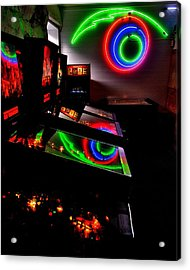 Replicant Arcade Acrylic Print by Benjamin Yeager
