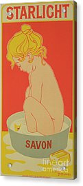 Reproduction Of A Poster Advertising Starlight Soap Acrylic Print by Henri Meunier