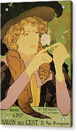 Reproduction Of A Poster Advertising The 5th Exhibition Of The Salon Des Cents Acrylic Print by Georges de Feure