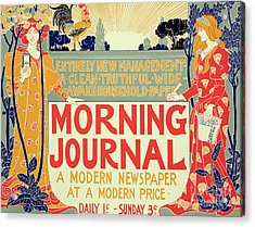 Reproduction Of A Poster Advertising The Morning Journal Acrylic Print by Louis John Rhead