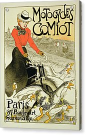 Reproduction Of A Poster Advertising Acrylic Print by Theophile Alexandre Steinlen