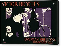 Reproduction Of A Poster Advertising Victor Bicycles Acrylic Print by American School