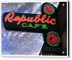 Republic Cafe Acrylic Print by Gail Lawnicki