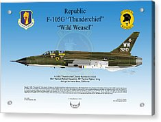 Republic F-105g Thunderchief Acrylic Print by Arthur Eggers