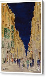Republic Street Valletta Malta Acrylic Print