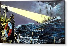 Rescue Of The Helen B.  Sterling 1922 Acrylic Print