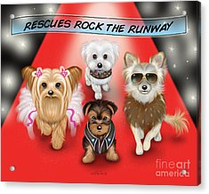 Rescues Rock The Runway Acrylic Print