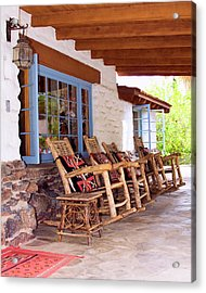 Reserved Seating Palm Springs Acrylic Print by William Dey