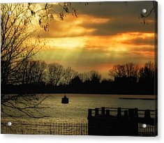 Reservoir Afternoon Acrylic Print by Susan Desmore