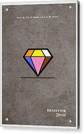 Reservoir Dogs - 3 Acrylic Print by Ayse Deniz