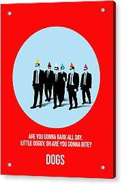 Reservoir Dogs Poster 1 Acrylic Print by Naxart Studio