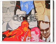 Reservoir Dogs Tribute Acrylic Print by Gary Niles