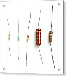 Resistors Acrylic Print by Science Photo Library