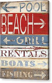 Resort Beach Sign Acrylic Print
