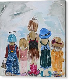 Respectively Dedicated To Childhood Acrylic Print by Vicki Aisner Porter
