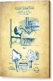 Respirator Patent From 1911 - Vintage Paper Acrylic Print by Aged Pixel
