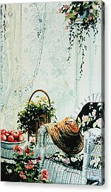 Rest From Garden Chores Acrylic Print by Hanne Lore Koehler