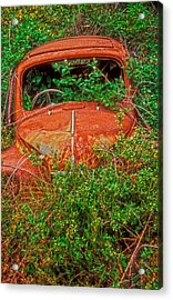 Rest In Peace My Sweet Renault Acrylic Print by Laurence Delderfield