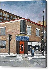 Restaurant A La Fine Pointe Acrylic Print