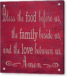Restaurant Blessing In Red Acrylic Print by Dan Sproul