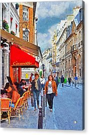 Restaurant Camille In The Marais District Of Paris Acrylic Print
