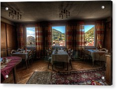 Restaurant  Acrylic Print by Nathan Wright