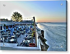 Acrylic Print featuring the photograph Restaurant On Fort Myers Beach Florida by Timothy Lowry