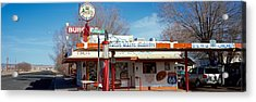 Restaurant On The Roadside, Route 66 Acrylic Print by Panoramic Images