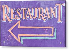 Restaurant Acrylic Print by Tom Gowanlock