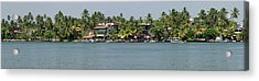 Restaurants Along The Bentota River Acrylic Print by Panoramic Images