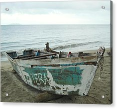 Resting Fishing Boat Acrylic Print by Jocelyn Friis