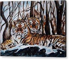 Resting Acrylic Print by Harsh Malik