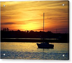 Acrylic Print featuring the photograph Resting In A Mango Sunset by Sandi OReilly