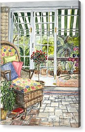 Resting On The Lanai Part 1 Acrylic Print by Carol Wisniewski