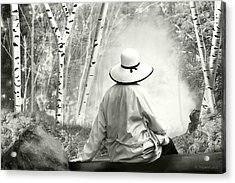 Resting Place - B/w Acrylic Print by Melisa Meyers