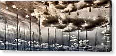 Resting Sailboats Acrylic Print by Stelios Kleanthous