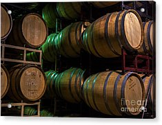 Resting Wine Barrels Acrylic Print