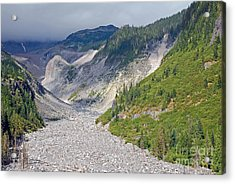 Restless Glaciers At Mount Rainier National Park Acrylic Print