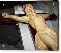 Restoration At The Foot Of The Cross John Nineteen Twentyfive  Acrylic Print by Judy Via-Wolff