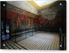Restoration Of Roman Frescoes Acrylic Print
