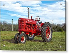 Restored Farmall Tractor Acrylic Print by Charles Beeler