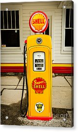 Restored Shell Pump On Route 66 Acrylic Print