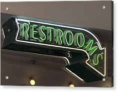 Restrooms In Neon Acrylic Print