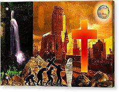 Resurrection Acrylic Print by Diskrid Art