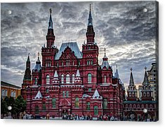 Resurrection Gate And Iberian Chapel - Red Square - Moscow Russia Acrylic Print