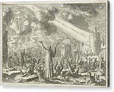 Resurrection Of The Dead, Print Maker Jan Luyken Acrylic Print by Jan Luyken And David Ruarus